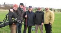 W noworoczne południe odwiedzili nas czterej golfiści, którzy chcieli zacząć 2013 z kijem w ręku.